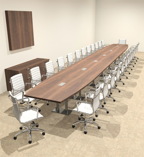 Modern Boat Shaped Steel Leg 28' Feet Conference Table, #OF-CON-CM90