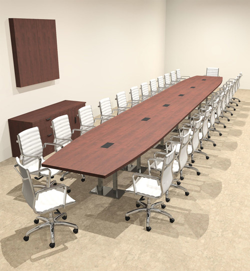 Modern Boat Shaped Steel Leg 28' Feet Conference Table, #OF-CON-CM91