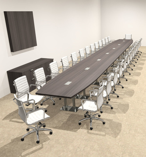 Modern Boat Shaped Steel Leg 30' Feet Conference Table, #OF-CON-CM102