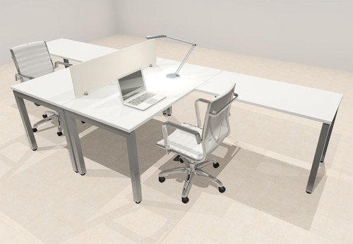 Two Person Modern Divider Office Workstation Desk Set, #OF-CON-FP1