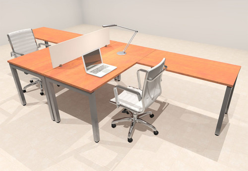 Two Person Modern Divider Office Workstation Desk Set, #OF-CON-FP3