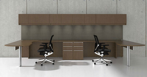 14pc L Shape Modern Executive Office Desk Set, #CH-VER-L6