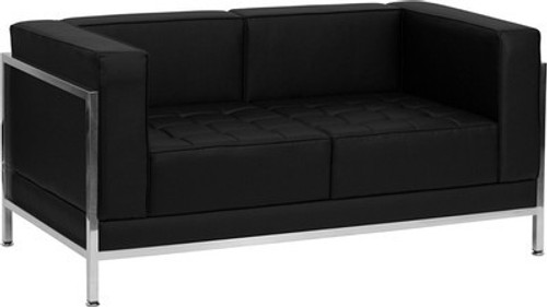 1pc Modern Leather Office Reception Loveseat, FF 0433 12