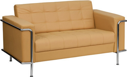 1pc Modern Leather Office Reception Loveseat, FF-0449-12