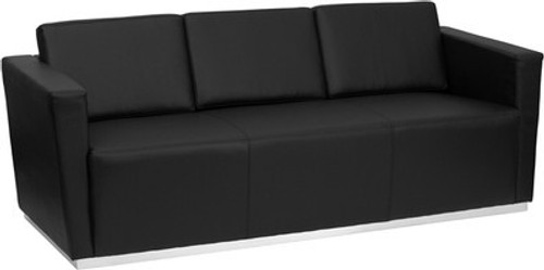 1pc Modern Leather Office Reception Sofa, FF-0456-12