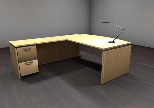 3pc L Shape Modern Contemporary Executive Office Desk Set, #AL-SED-L4
