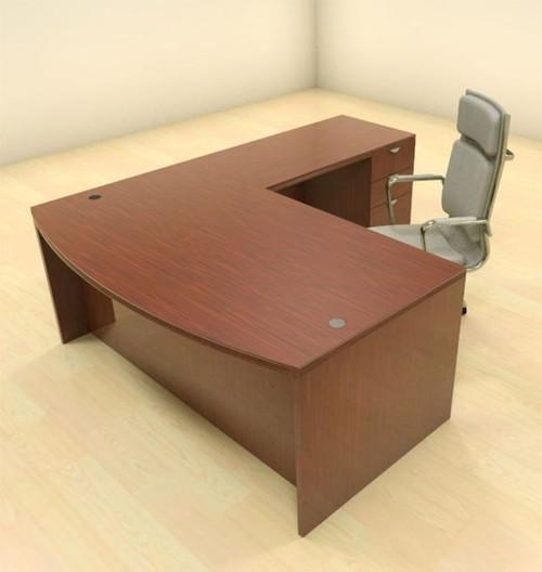 3pc L Shape Modern Contemporary Executive Office Desk Set, #CH-JAD-L1