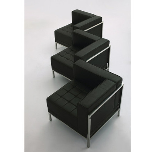 3pc Modern Leather Office Reception Sofa Set, FF-0433-12-S16