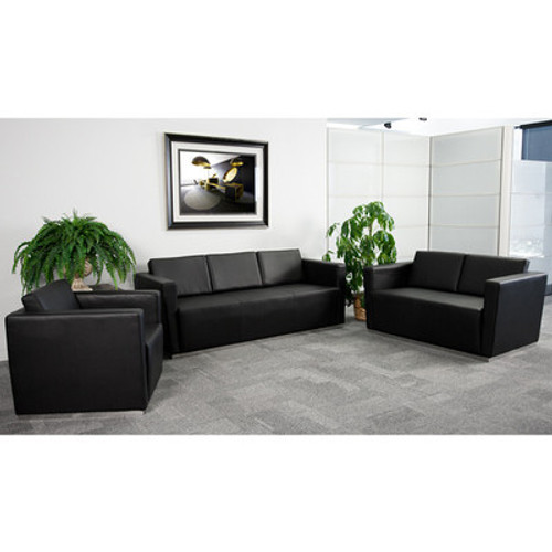 3pc Modern Leather Office Reception Sofa Set, FF-0456-12-S1
