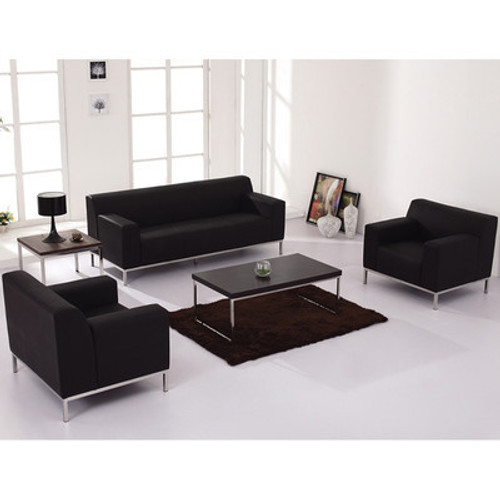 3pc Modern Leather Office Reception Sofa Set, FF-0444-12-S1