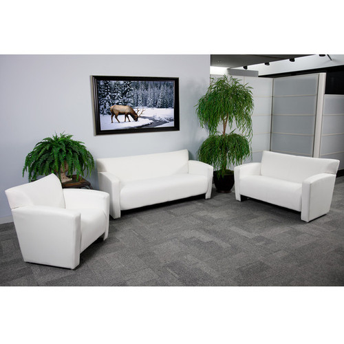 3pc Modern Leather Office Reception Sofa Set, FF-0548-13-S1