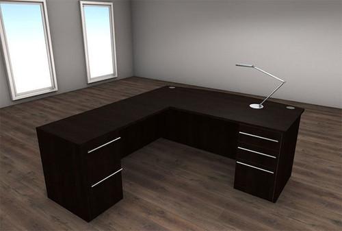 4pc L Shape Modern Executive Office Desk Set, #CH-VER-L4
