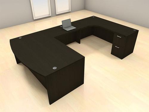 4pc U Shape Modern Executive Office Desk Set, #CH-AMB-U44