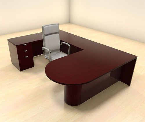 4pc U Shape Modern Contemporary Executive Office Desk Set, #CH-JAD-U12