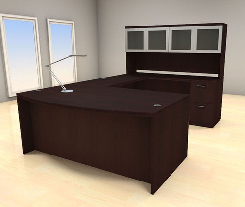 5pc U Shape Modern Executive Office Desk Set, #CH-AMB-U70