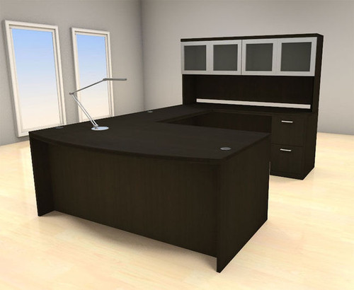 5pc U Shape Modern Executive Office Desk Set, #CH-AMB-U68