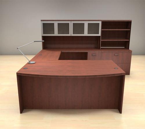 7pc U Shape Modern Executive Office Desk Set, #CH-AMB-U75