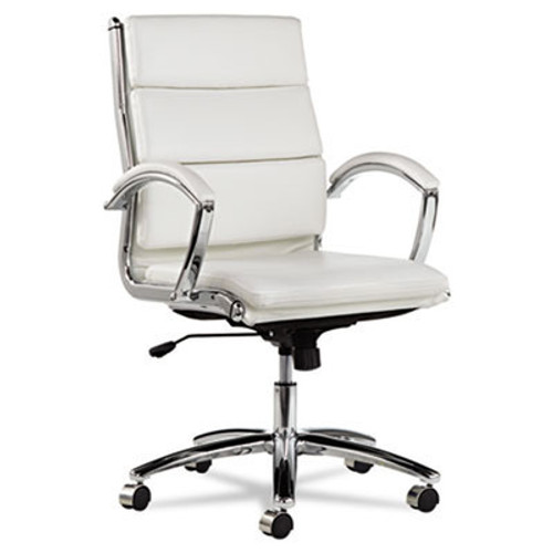Mid Back Modern Leatherette Swivel/Tilt Office Chair, #AL-NR4206