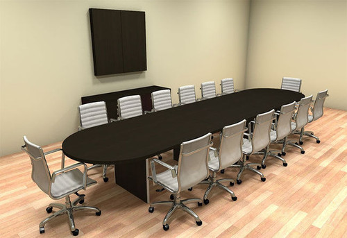 Modern Racetrack 16' Feet Conference Table, #CH-AMB-C14