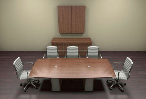 Modern Cotemporary Boat Shape 8' Feet Conference Table, #CH-VER-C1
