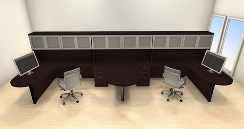 Two Persons Modern Executive Office Workstation Desk Set, #CH-AMB-S57