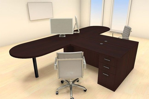 Two Persons Modern Executive Office Workstation Desk Set, #CH-AMB-S17