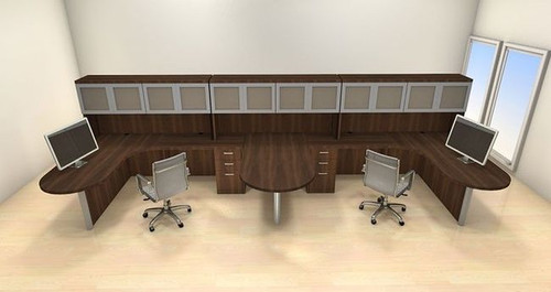 Two Persons Modern Executive Office Workstation Desk Set, #CH-AMB-S59