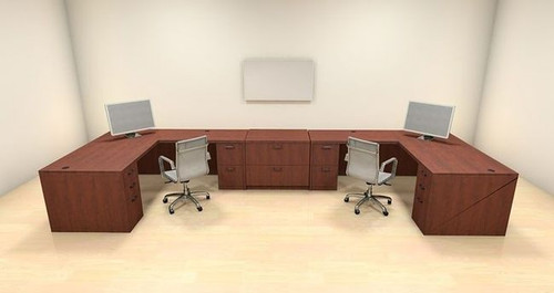 Two Persons Modern Executive Office Workstation Desk Set, #CH-AMB-S66