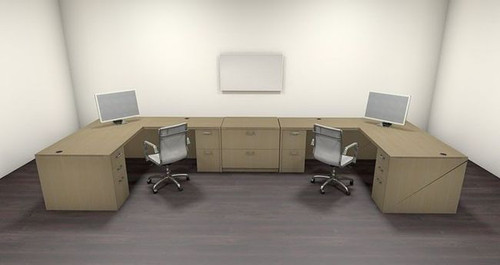 Two Persons Modern Executive Office Workstation Desk Set, #CH-AMB-S70