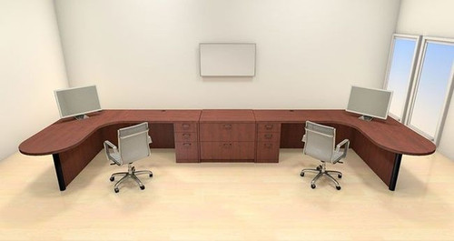 Two Persons Modern Executive Office Workstation Desk Set, #CH-AMB-S71