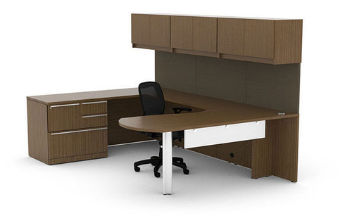 10pc U Shape Modern Executive Office Desk Set, #CH VER U35 ...