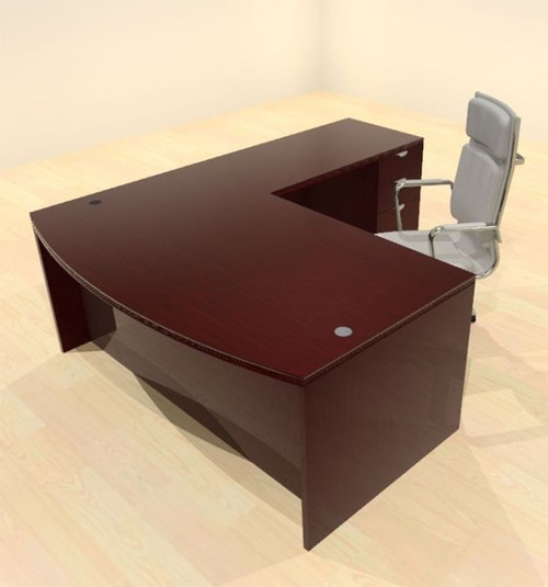 3pc L Shape Modern Contemporary Executive Office Desk Set, #CH-JAD-L2