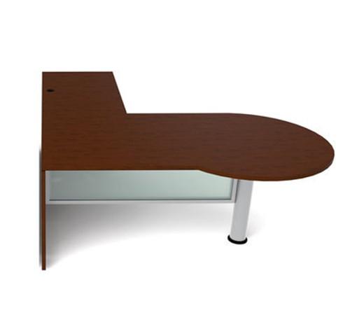 3pc L Shape Modern Contemporary Executive Office Desk Set, #CH-JAD-L3