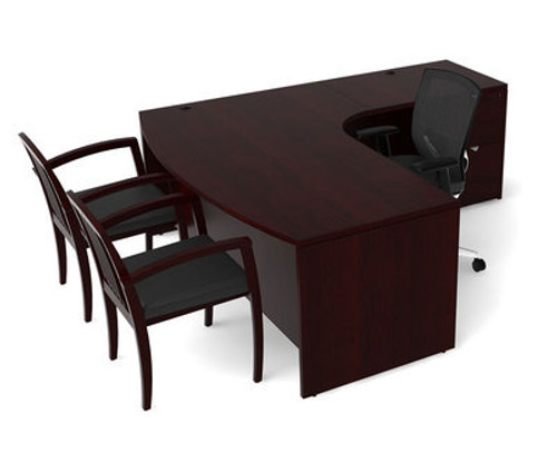3pc L Shape Modern Contemporary Executive Office Desk Set, #CH-JAD-L5