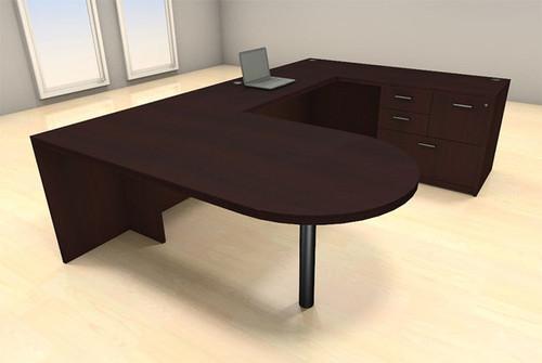 4pc U Shape Modern Executive Office Desk Set, #CH-AMB-U33