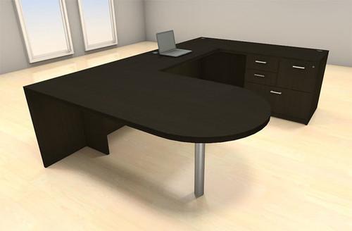 4pc U Shape Modern Executive Office Desk Set, #CH-AMB-U34