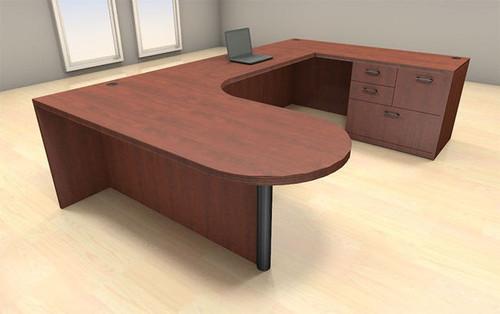 4pc U Shape Modern Executive Office Desk Set, #CH-AMB-U5