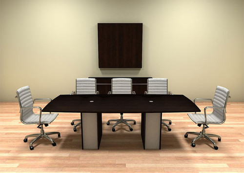 Modern Cotemporary Boat Shape Feet Conference Table CHVERC - 8 foot conference table and chairs