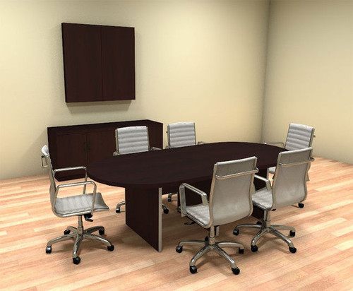 Modern Racetrack 8' Feet Conference Table, #CH-AMB-C34