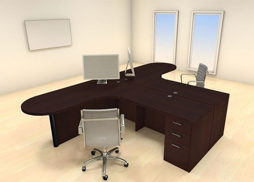 Two Persons Modern Executive Office Workstation Desk Set, #CH-AMB-S32