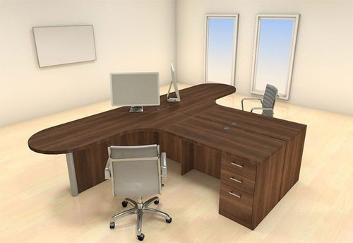 Two Persons Modern Executive Office Workstation Desk Set, #CH-AMB-S34