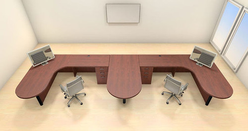 Two Persons Modern Executive Office Workstation Desk Set, #CH-AMB-S46