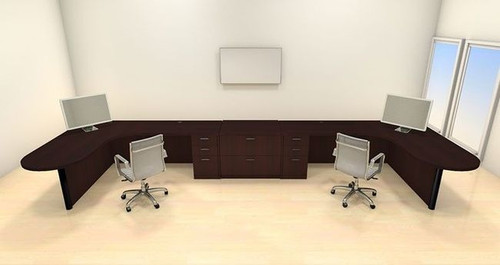 Two Persons Modern Executive Office Workstation Desk Set, #CH-AMB-S72