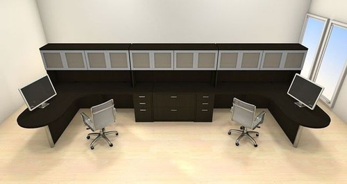Two Persons Modern Executive Office Workstation Desk Set, #CH-AMB-S78