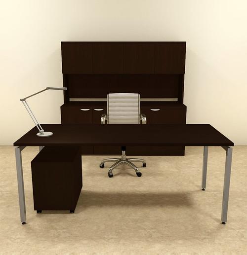 4pc Modern Contemporary Executive Office Desk Set, #OF-CON-D10