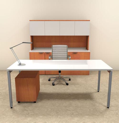 4pc Modern Contemporary Executive Office Desk Set, #OF-CON-D11