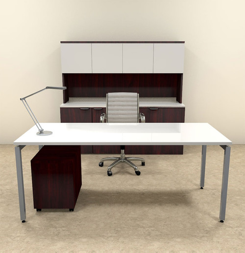 4pc Modern Contemporary Executive Office Desk Set, #OF-CON-D13