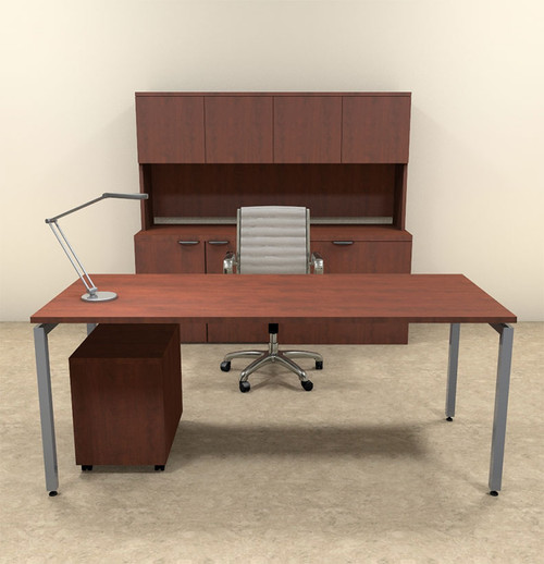 4pc Modern Contemporary Executive Office Desk Set, #OF-CON-D7