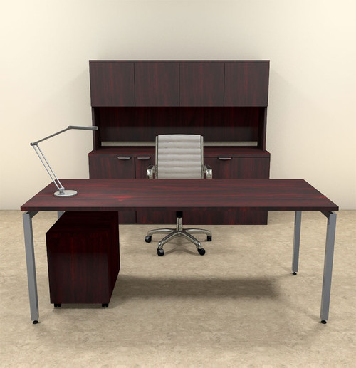 4pc Modern Contemporary Executive Office Desk Set, #OF-CON-D8