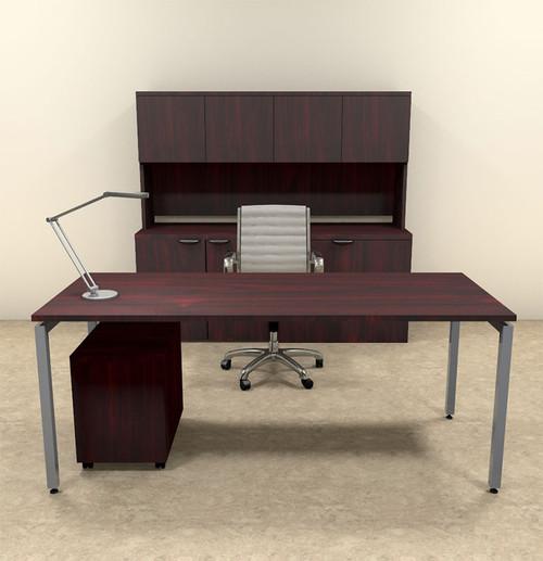 4pc Modern Contemporary Executive Office Desk Set, #OF-CON-D8